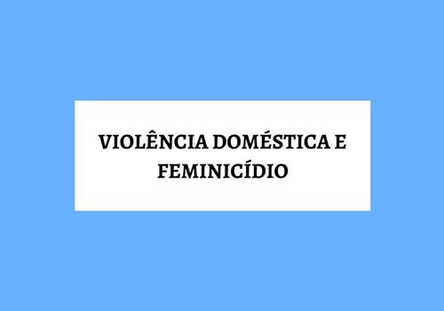 [Infográfico] Violência Doméstica e Feminicídio