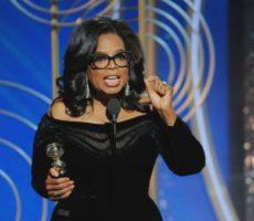 oprah dando seu discurso