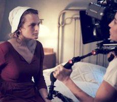 Imagem de gravações da primeira temporada de The Handmaid's Tale